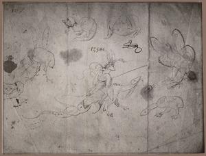 Zeven monsters en een rijdende ridder met lans