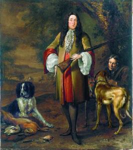 Portret van een elegante jager