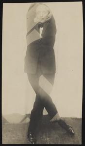 Simultaanportret van Valentin Parnac in zijn dans Epopee