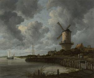 Landschap met de molen bij Wijk bij Duurstede