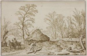 Landschap met een houthakker (De maand Februari?)