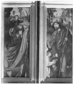 De H. Christoforus (links), de H. Rochus (rechts)