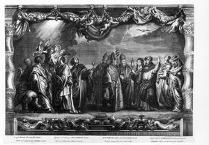 De vier evangelisten en de verdedigers van de eucharistie