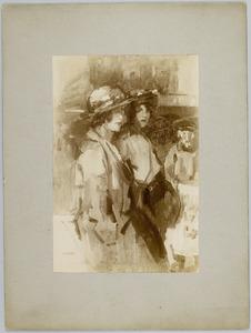 Twee dames op straat