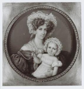 Portret van Anna Jacoba van Boetzelaer (1802-1858) en Jan Anthony Taets van Amerongen (1830-1872)