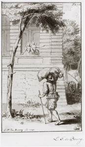 Koning Hendrik IV  van Frankrijk bezoekt Gabrielle d' Estrées, vermomd als boer
