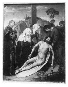 Altaarstuk met de Zeven Smarten van Maria: De Bewening (rechts, midden)