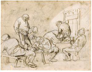 Acht boeren in een herberg