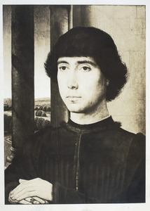 Portret van een jonge man in een loggia