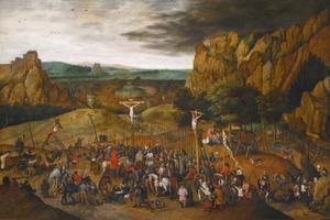De kruisiging (Matteus 27: 35, Lucas 23: 33-42; Marcus 15: 22-32, Johannes 19: 23-30)