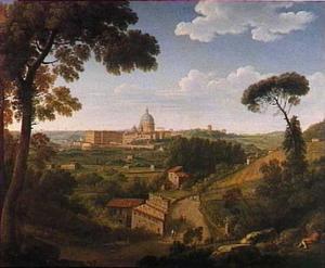 Het Vaticaan vanaf de Monte Mario