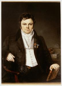Portret van Jacobus Wilhelmus Adrianus van den Bergh (1776-1841)
