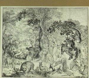 Het Aards Paradijs; Eva biedt Adam de appel aan