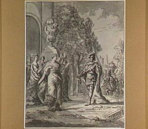 De dochter van Jefta komt hem dansend tegemoet (Richteren 11:34)