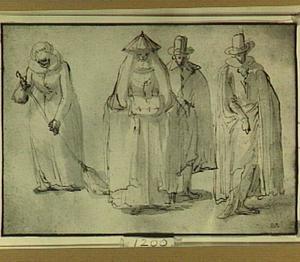 Twee vrouwen- en twee mannenfiguren