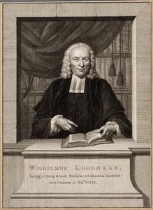 Portret van Wilhelmus Koolhaas (1709-1773)