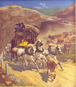 De postkoets over de Sankt Gotthard