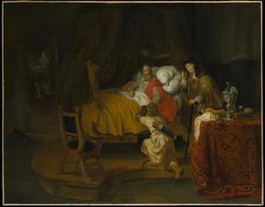 Jacob ontsteelt Esau Isaaks vaderlijke zegen (Genesis 27:27-32)