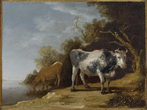 Landschap met twee koeien