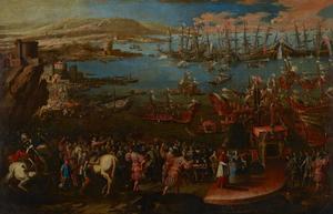 De aankomst van de Infanta Marìa in Napels