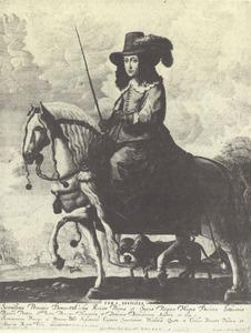 Ruiterportret van Caecilia Renata van Oostenrijk (1611-1644), echtgenote van koning Wladislaw IV Wasa