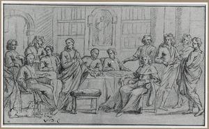 Groepsportret in interieur