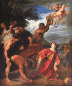 De steniging van de H. Stefanus (Handelingen 7:54-60)