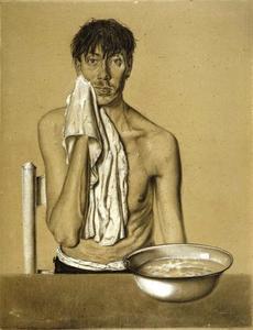Zelfportret met waskom