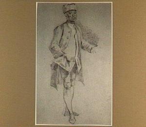 Portret van Cupido van Cedron (?-?), bediende van Willem V van Oranje-Nassau