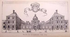 Palais du Luxembourg te Parijs rond 1645