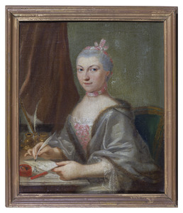 Portret van een vrouw, mogelijk Isabella Regina des H.G. Rijksgravin van Hoensbroeck (1738-1765)