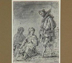 Lazarillo's meester maakt jonge dames het hof (Lazarillo de Tormes dl. 1, cap. 11, p. 36)