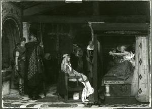 Koningin Frédegonde aan het doodsbed van de heilige Praetextus, bisschop van Rouen