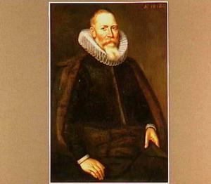 Portret van een man met baard en molensteenkraag