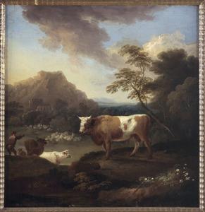Landschap met stier