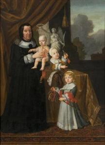 Sophie Eleonore van Saksen (1609-1671), landgravin van Hessen-Darmstadt, als weduwe met haar kleinzoontjes Alexander Sigismund (1663-1737), Francis Louis (1664-1732) en Frederick Wilhelm (1665-1689)
