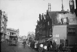 Gezicht op de Korte Marnixstraat te Amsterdam