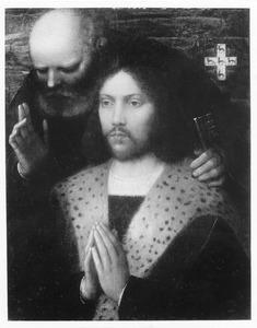 Portret van een stichter met de H. Petrus