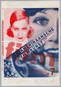 Ontwerp voor de omslag van J.F. Otten, Amerikaansche Filmkunst, Rotterdam 1931