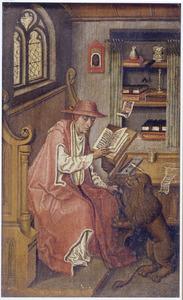 Heilige Hieronymus trekt een doorn uit de poot van de leeuw