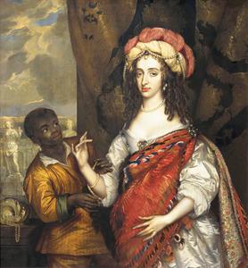 Portret van Maria I Stuart (1631-1661), met een bediende