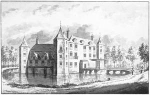 Linker- en voorzijde van kasteel Nederhorst in Nederhorst den Berg