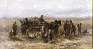 Landschap met nettenwagen