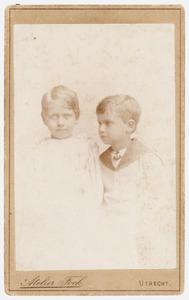 Portret van Constance Henriette van Lynden (1884-...) en Leonard Louis Jacques van Lynden (1885-1928)
