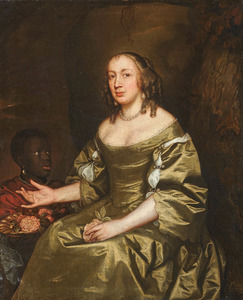 Portret van Mrs. St. George (?-?), met een bediende