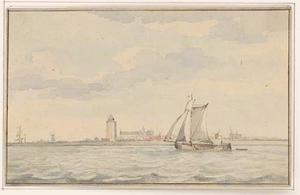 Zeilboot op de Oosterschelde voor Zierikzee