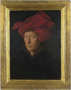 Portret van een onbekende man met een rode tulband