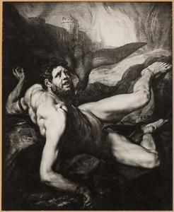 De adelaar van Jupiter eet de lever van Tityus