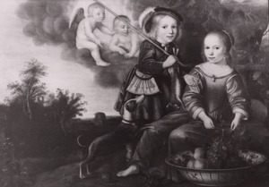 Dubbelportret van Elisabeth van Bronsvelt (1643-1679) en Philippus van Bronsvelt (1645-1679)