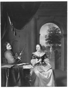 Portret van Johan Joosten van Musschenbroek (1660-1707) en Margaretha van der Straaten (1659-1743)